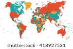 green red yellow brown world... | Shutterstock .eps vector #418927531