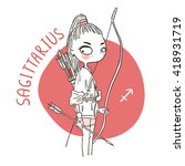 zodiac signs sagittarius.... | Shutterstock .eps vector #418931719
