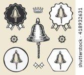 ship bell vintage sea naval...   Shutterstock .eps vector #418932631