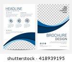 brochure template flyer design...   Shutterstock .eps vector #418939195