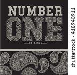 ethnic  varsity vector design... | Shutterstock .eps vector #418940911