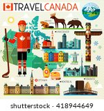 vector set of various canada... | Shutterstock .eps vector #418944649