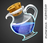 vector cartoon potion bottle....
