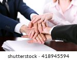 business people group joining... | Shutterstock . vector #418945594