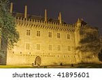 Small photo of Night view of Pa?o dos Duques de Bragan?a palace, in Guimar?es Portugal, north of the country