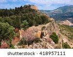 ruins of the assos castle ... | Shutterstock . vector #418957111