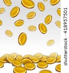 coins light background... | Shutterstock .eps vector #418957501