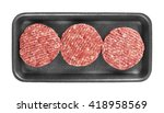 raw meat patty in package ...   Shutterstock . vector #418958569