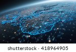 3d abstract map of the world.... | Shutterstock . vector #418964905