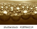 bubbles in a glass of champagne | Shutterstock . vector #418966114
