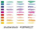 set of colorful watercolor... | Shutterstock .eps vector #418968127