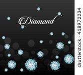 diamond icon. elegant concept.... | Shutterstock .eps vector #418972234