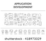 outline concept web banner for... | Shutterstock . vector #418973329