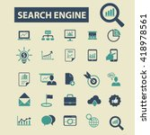 search engine icons  | Shutterstock .eps vector #418978561