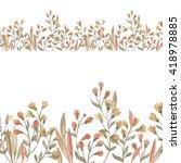 floral horizontal seamless... | Shutterstock . vector #418978885
