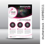 pink business brochure flyer... | Shutterstock .eps vector #418980211