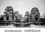 phanomrung and muang tam is the ... | Shutterstock . vector #418981024