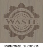waste wood icon or emblem | Shutterstock .eps vector #418984345