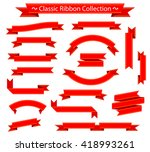 classic ribbon collection  red... | Shutterstock .eps vector #418993261