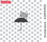 umbrella and rain drops. vector ... | Shutterstock .eps vector #418994905