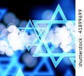 stars of david on a dark... | Shutterstock . vector #41899699