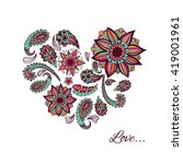 vector patterns painted by hand....   Shutterstock .eps vector #419001961