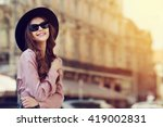 outdoor portrait of a young... | Shutterstock . vector #419002831
