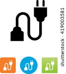 two pronged power cord symbol.  | Shutterstock .eps vector #419003581
