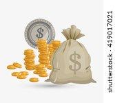 money design. financial item.... | Shutterstock .eps vector #419017021