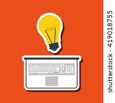 technology design. laptop... | Shutterstock .eps vector #419018755