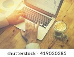 accounting and technology in... | Shutterstock . vector #419020285