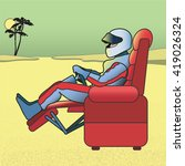 race gamer. a race car driver... | Shutterstock .eps vector #419026324
