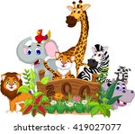 zoo and the animal cartoon | Shutterstock .eps vector #419027077