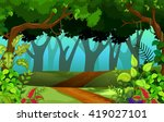 beautiful forest for you design | Shutterstock .eps vector #419027101