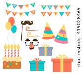 birthday and celebration event. ... | Shutterstock .eps vector #419028469