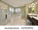 master bath with glass shower | Shutterstock . vector #41903992