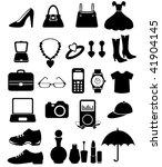 accessories icon set   Shutterstock .eps vector #41904145