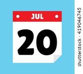 calendar icon flat july 20