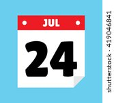 calendar icon flat july 24