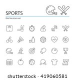 sports icons. | Shutterstock .eps vector #419060581