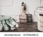 tools for painting. | Shutterstock . vector #419064811