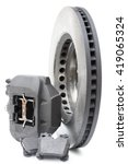 ventilated brake disc and... | Shutterstock . vector #419065324