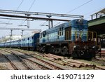 A Diesel Locomotive Hauling A...