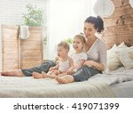 happy loving family. mother and ... | Shutterstock . vector #419071399