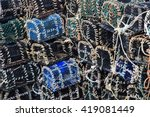 basket traps for catching... | Shutterstock . vector #419081449