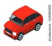 vector isometric car of red... | Shutterstock .eps vector #419083405