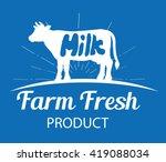 vector farm logo template with... | Shutterstock .eps vector #419088034