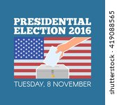 usa presidential election day...   Shutterstock .eps vector #419088565