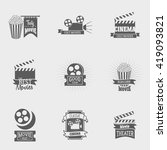 set of cinema logos and signs.... | Shutterstock . vector #419093821