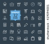 outline web icon set   office... | Shutterstock .eps vector #419094001